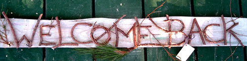 Maine Art Sign by Moosehead Rustic Art