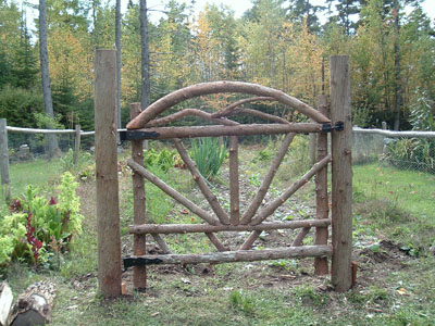Another Hand Crafted Wooden Gate By Betsy Rockwell