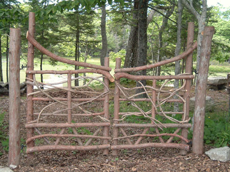 moosehead rustic art hand crafted wooden gates