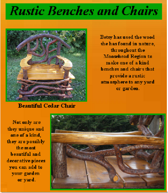 Rustic bench arm by moosehead rustic art