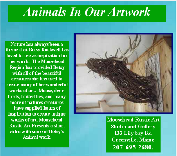 country art animals betsy rockwell, Moosehead rustic art, great Maine Art,