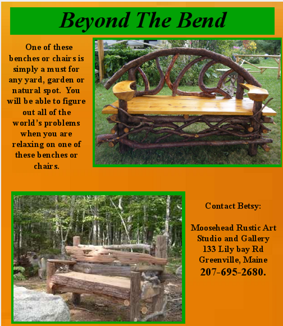 Rustic Benches and chairs Moosehead Rustic Art