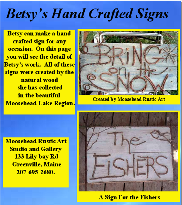 Moosehead Rustic Art Hand Made Signs
